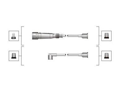 Komplet kablova za paljenje svječica za Audi 100 91-94