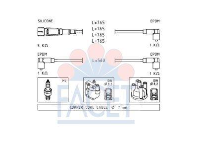 Komplet kablova za paljenje svječica za Volkswagen Caddy 79-92