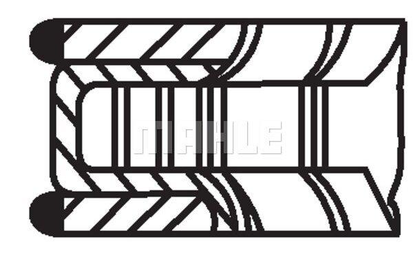 Komplet klipnih prstenova 00524N0 - Mercedes-Benz