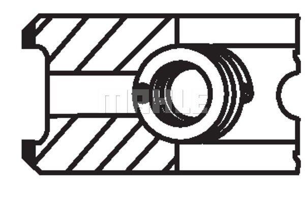 Komplet klipnih prstenova 00950N0 - Fiat, Opel, Renault