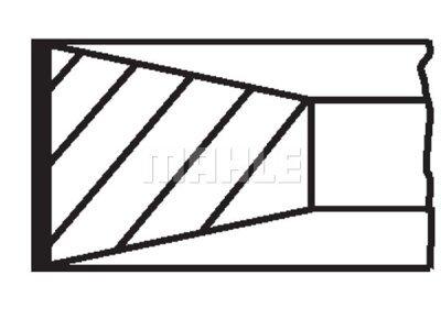 Komplet klipnih prstenova 00986N0 - Fiat, Iveco, Jeep