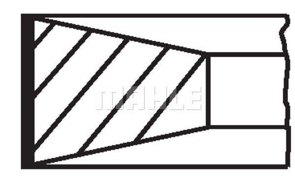 Komplet klipnih prstenova 013RS001350N0 - Ford