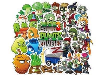 Komplet nalepnica Plants protiv Zombies - 100 kosov - Super kvalitet, Besplatna poštarina