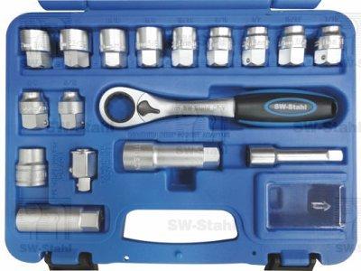 Komplet nasadnih ključev, 17-delni, 06540L