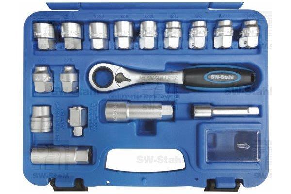Komplet nasadnih ključeva, 17-delni, 06540L