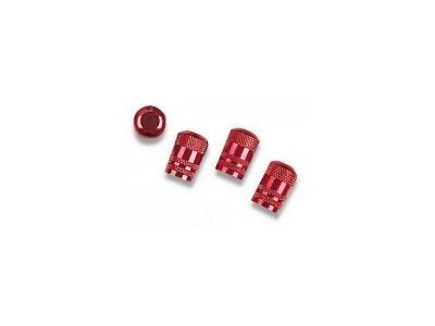 Komplet okrasnih pokrovčkov za vijake platišča 27517, rdeči