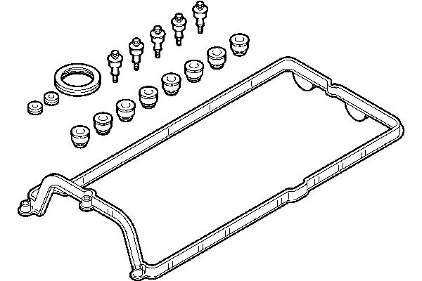 Komplet tesnil pokrovov ventila BMW X5 00-13