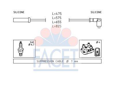 Komplet vžigalnih kablov za svečke Citroen Evasion 94-02