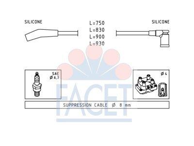 Komplet vžigalnih kablov za svečke Ford Escort 95-02