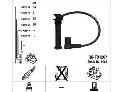 Komplet vžigalnih kablov za svečke Ford Mondeo 00-07