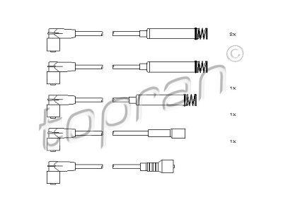 Komplet vžigalnih kablov za svečke Opel Astra F -02