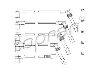 Komplet vžigalnih kablov za svečke Opel Corsa B 93-00