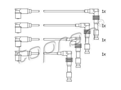 Komplet vžigalnih kablov za svečke Opel Tigra 94-00