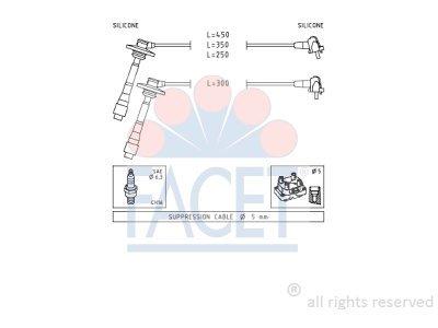 Komplet vžigalnih kablov za svečke Toyota Corolla 97-02