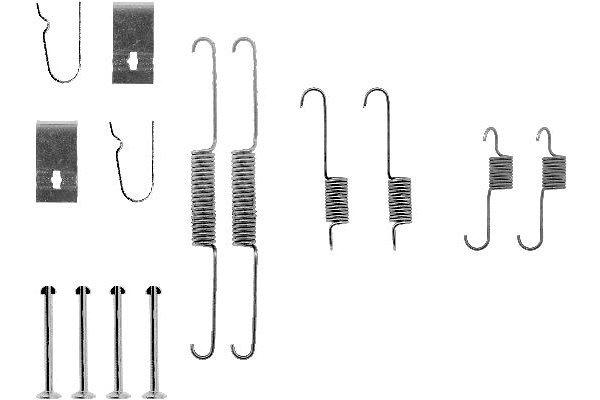 Komplet za obnovo zavornih čeljusti Kia Sephia 92-01