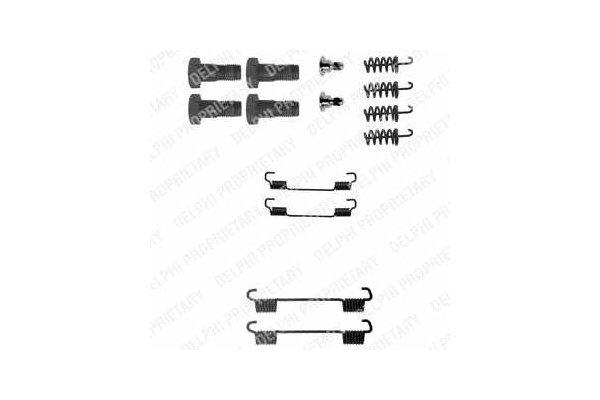 Komplet za obnovo zavornih čeljusti Mercedes C (W203) 00-07