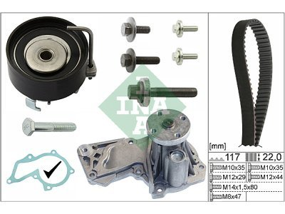 Komplet zupčastog remena (+vodena pumpa) 530049530 - Ford Fiesta 02-17