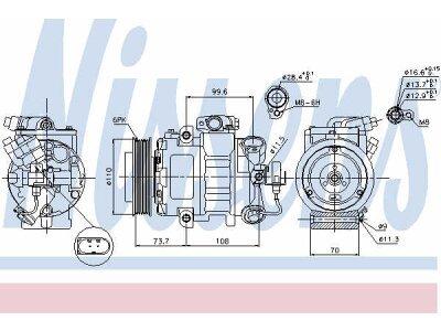 Kompresor klime 89026 - Volkswagen Touran 10-15