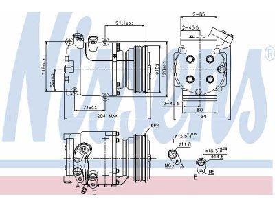 Kompresor klime Renault Megane 95-08