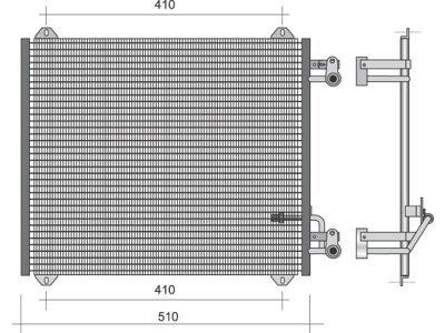 Kondenzator klime 1322K8C1 - Audi A2 00-05