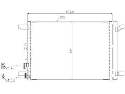 Kondenzator klime 13C1K8C2S - Audi A3 12-