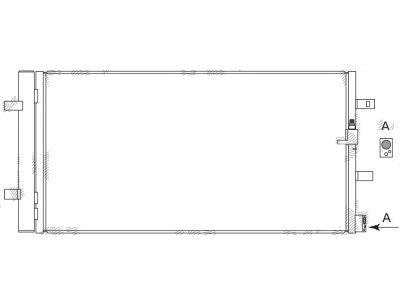 Kondenzator klime 13D1K8C3 - Audi A4 07-15
