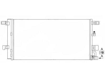 Kondenzator klime 13D2K8C1 - Audi A4 15-