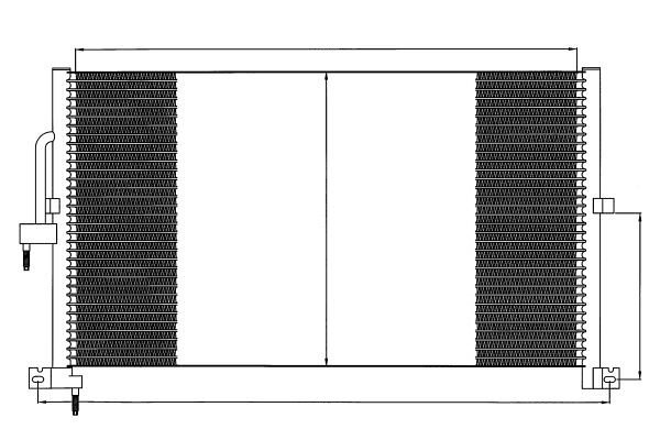 Kondenzator klime 3710K8C1 - JAGUAR X-TYPE 01-09