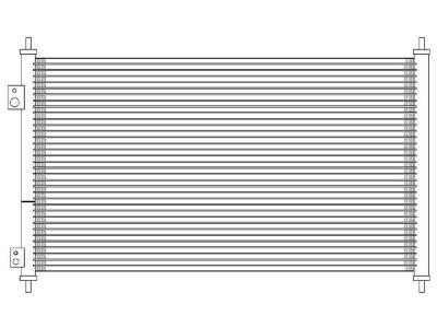 Kondenzator klime 3825K81K - Honda Civic 01-05