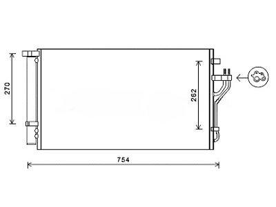 Kondenzator klime 4048K8C4S - Hyundai iX35 10-