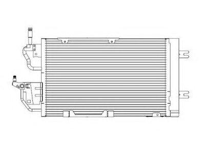 Kondenzator klime 5509K85X - Opel Zafira 05-12