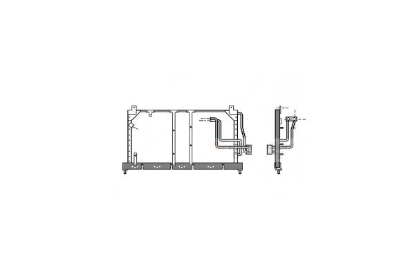 Kondenzator klime 5555K8C1 - Opel Corsa B 93-00