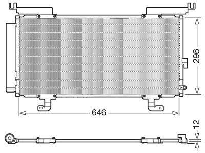 Kondenzator klime 72D1K8C1S - Subaru Legacy 14-