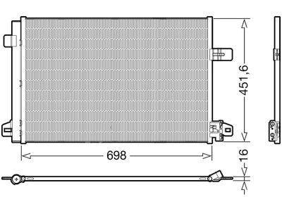 Kondenzator klime 95N1K8C1S - Volkswagen Transporter/Multivan T6 15-