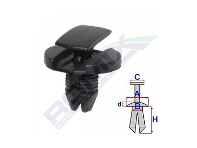 Kopče za pričvršćivanje (za deo oko motora) Citroen C3 02-