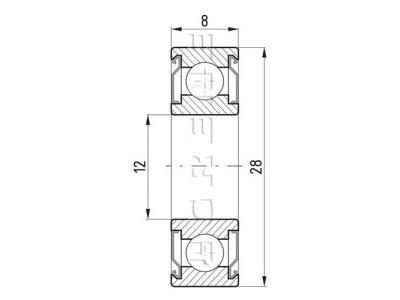 Kroglični ležaj 8x12x28 - 10 kosov