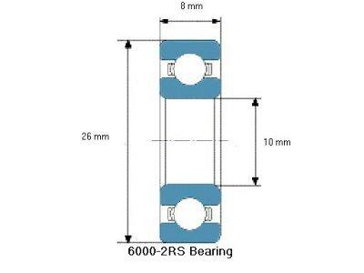 Kuglični ležaj 8x10x26, 10 komada