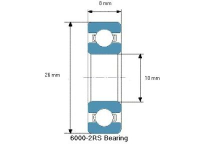 Kuglični ležaj 8x10x26 - 10 komada