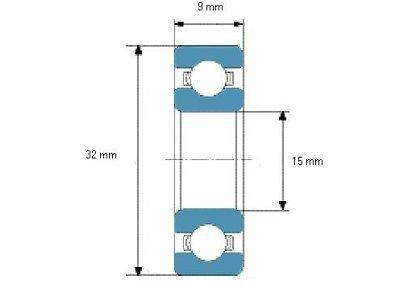 Kuglični ležaj 9x15x32 - 10 komada