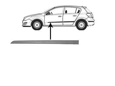 Lajsna vrata Opel ASTRA H 04- 4/5V + za lakiranje