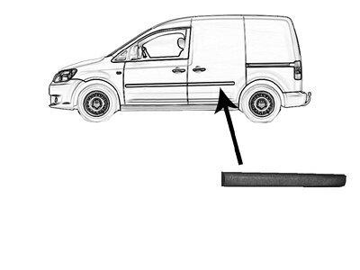 Lajsna vrata (stražnja) VW Caddy 04-10 crna