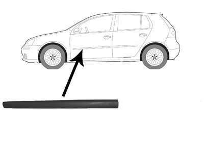 Lajsna vrata VW Golf 5 03- crna