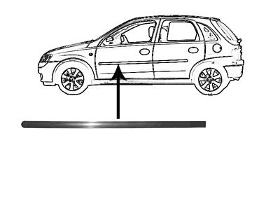 Lajsna za vrata Opel Corsa C 00-06 5V