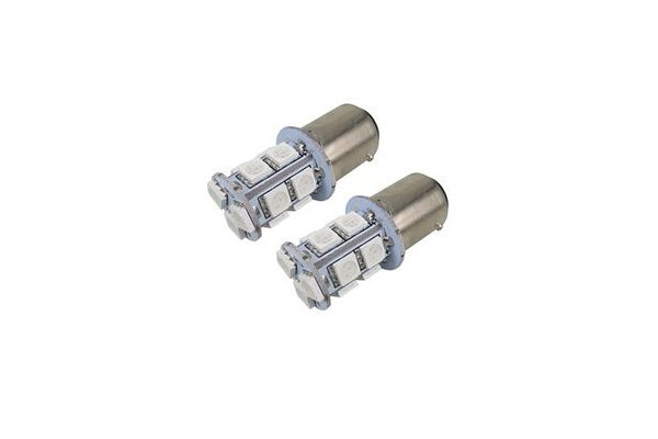 LED sijalice 12V, 13xSMD, oranšna , 2 komada