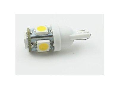 LED sijalice 12V, 5xSMD, bela, 2 komada