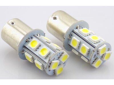 LED sijalice BA15S, 12V, 13xSMD, bela, 2 komada