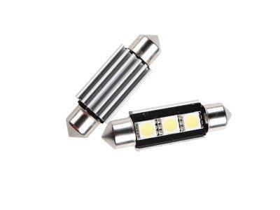 LED sijalice C5W, 12V, 3xSMD, bela, 2 komada