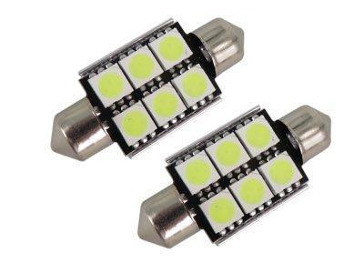 LED sijalice C5W, 12V, 6xSMD, bela, 2 komada