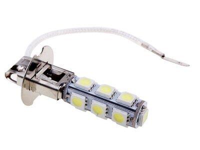 LED sijalice H3, 12V, 13xSMD, bela, 2 komada
