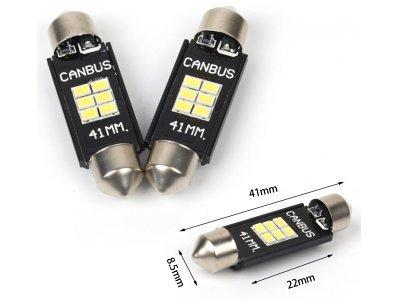 LED žarnice 10-16V, 6xSMD, 210Lm, 41mm, CANBUS, 2 kosa, 12 mesečna garancija, PREMIUM